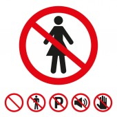 No woman sign on white background Vector illustration