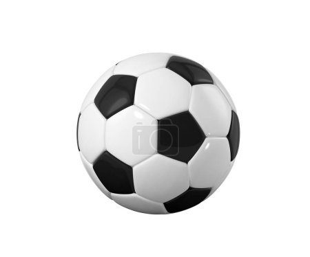 Photo for Realistic soccer ball or football ball on white background. 3d Style Ball isolated on white background. 3d rendering. - Royalty Free Image