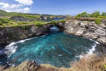 Beautiful and clear aquamarine water