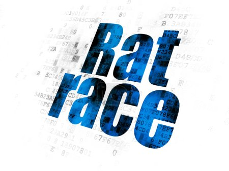 Political concept: Rat Race on Digital background
