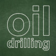 Industry concept: text Oil Drilling on Green chalk...