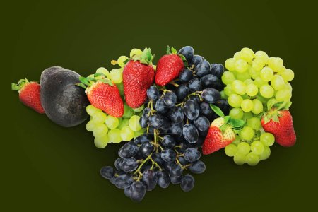 Photo for Fruits mix fresh isolated natural healthy - Royalty Free Image