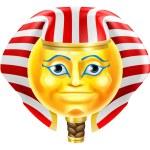 A cartoon Egyptian Pharaoh emoticon emoji characte...