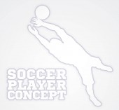 Goal Keeper Soccer Player Silhouette