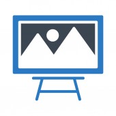 painting board glyph color icon