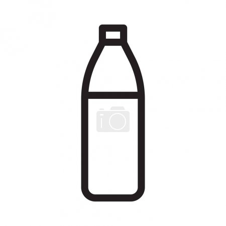 Photo for Water bottle thin line vector icon - Royalty Free Image