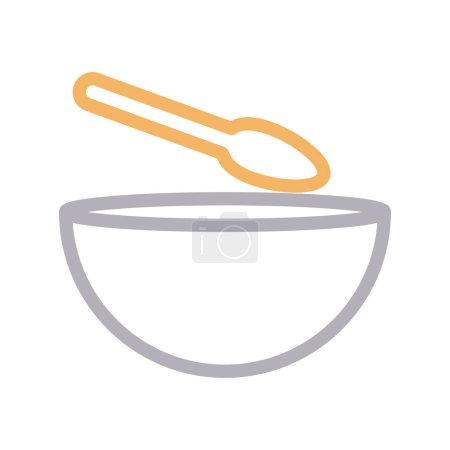Photo for Soup thin color line vector icon - Royalty Free Image