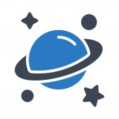 universe glyph colour vector icon