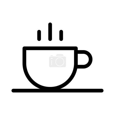 Photo pour Coffee thin line icon - image libre de droit