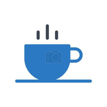 Photo pour Icône de couleur café glyphe - image libre de droit