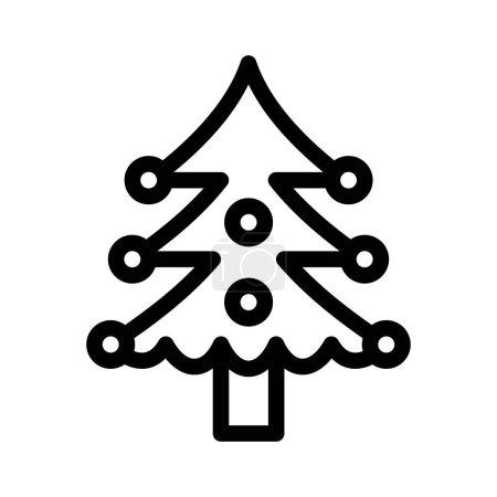 Photo pour Icône de Noël fine ligne - image libre de droit