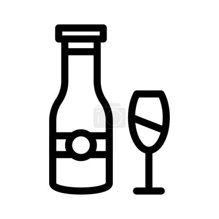 Photo pour Wine  thin line icon - image libre de droit