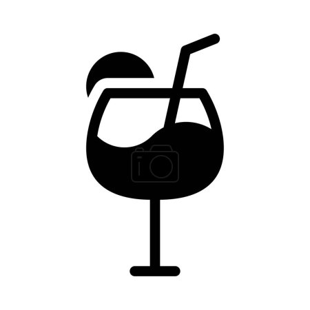 Photo pour Soda glyph flat icon - image libre de droit