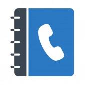 contact book  glyph colour vector icon
