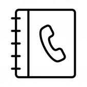 contact book  thin line vector icon