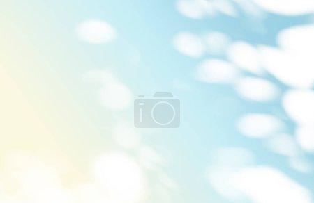 Photo pour Concept d'été de bokeh soleil ombre naturelle superposition sur fond de texture dégradé pastel, pour superposition sur la présentation du produit, toile de fond et maquette - image libre de droit