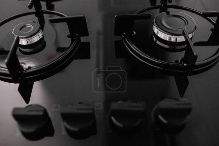 Photo pour Poêle de cuisson cuisson métal hotte de cuisine - image libre de droit
