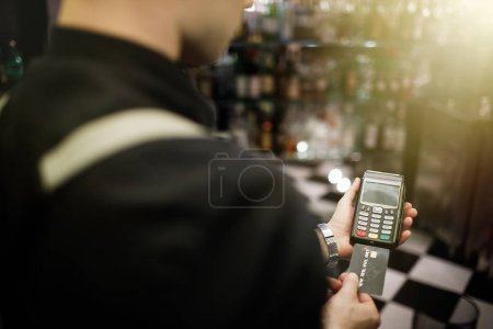 man and Credit card payment