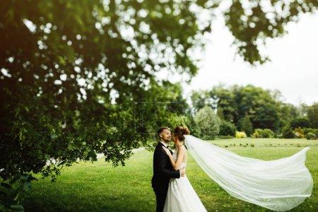 Brautpaar nach der Trauung.
