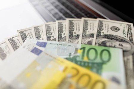 Money close up American dollar