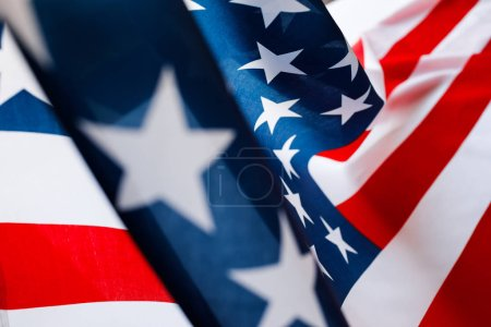 Independence day, American flag, close-up.