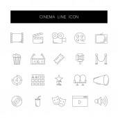 Line icons set Cinema pack