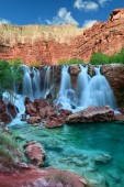 Navajo Falls in Havasupai Indian Reservation in Arizona, USA