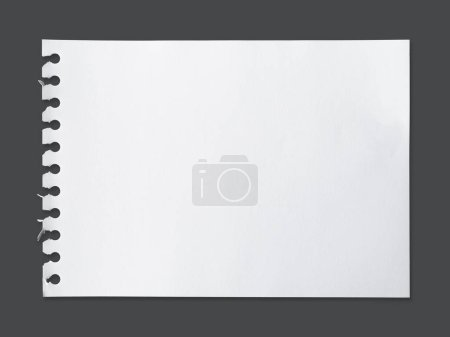 Photo pour Feuille blanche de texture de papier pour l'arrière-plan avec chemin de coupe - Image - image libre de droit