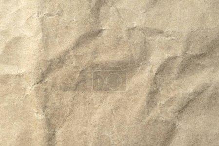 Foto de Marrón arrugada textura de papel para el fondo. - Imagen libre de derechos
