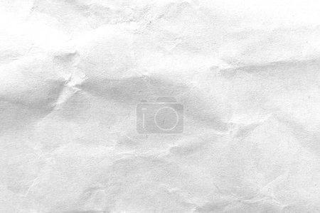 Photo pour Papier blanc froissé texture fond. Image en gros plan. - image libre de droit