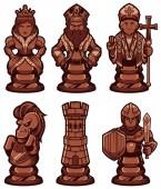 Chess Pieces Set Black