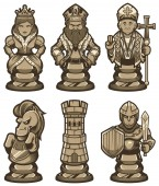 Chess Pieces Set White