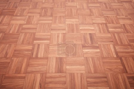 Photo for Brown wooden tiled floor texture background - Royalty Free Image