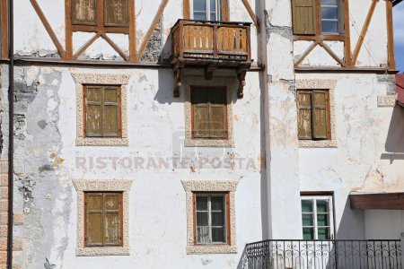 View of Arabba village - Italy Dolomites...