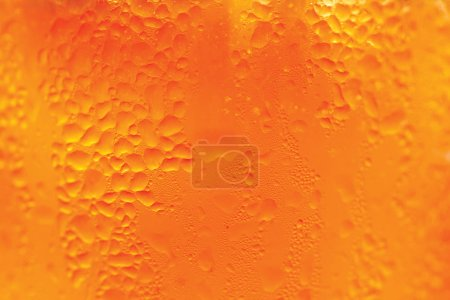 Photo for Yellow orange water drops background - Royalty Free Image