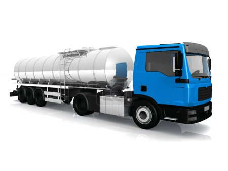 Photo for The tank truck isolated on white background - Royalty Free Image