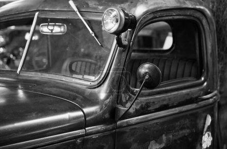 Photo pour Vieux détail de voiture américaine - image libre de droit