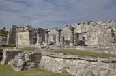 """Постер, картина, фотообои """"Руины здания восходит к цивилизации майя в Тулуме комплекс в Мексике"""""""