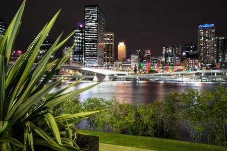 BRISBANE, AUSTRALIA - MAY 24TH, 2013: View of Brisbane City from South Bank Parklands. Brisbane is the capital city of Queensland and the third largest city in Australia