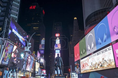 NEW YORK CITY - MAY 24TH, 2015: Times Square, featured with Broadway Theaters and animated LED signs, is a symbol of New York City and the United States in Manhattan