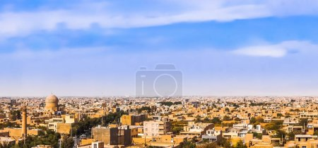 Panoramic view on historical city of Maybod - Iran