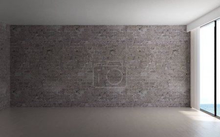 Photo for The interior design of empty room and brick wall background - Royalty Free Image