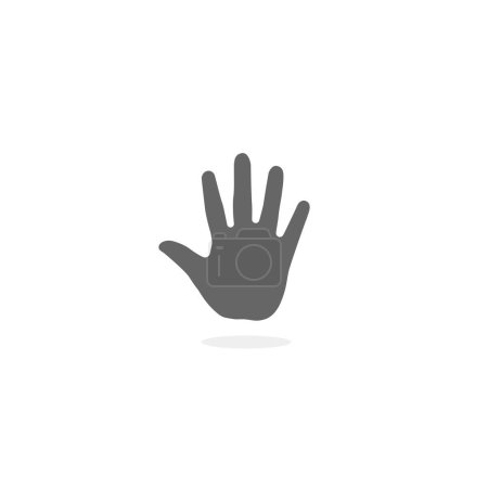 Teenager palm isolated on white background. Simple thenar symbol illustration