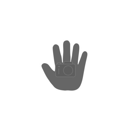 Baby open palm hand icon. Infant thenar symbol. Child high five icon illustration.