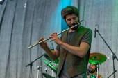 Bergamo, Italy - July 29, 2018: The Italian Folk Rockers band KALEVALA HMS performs at 6th Folk and Metal Fest of Malpaga (BG). Brambilla Simone Live News photographer