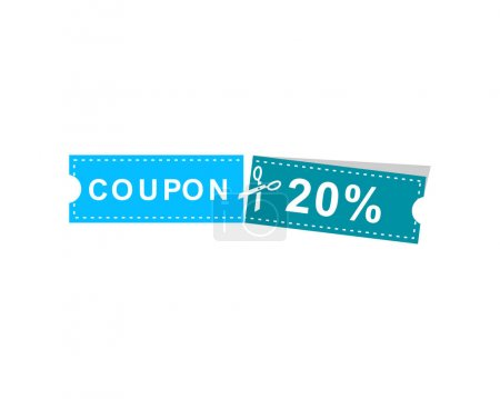 Photo for Coupons discount banner 20% offers - Royalty Free Image