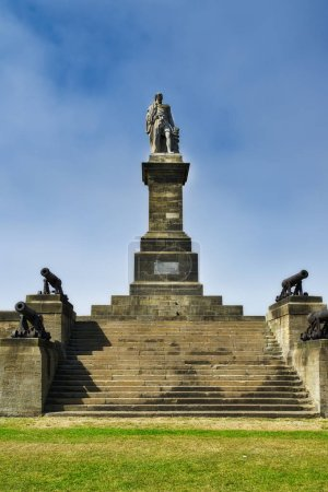 Lord Collingwood Monument above the mouth of the river Tyne, Newcastle.