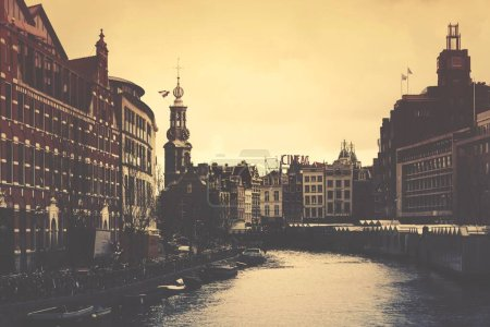Photo for City old buildings at the river - Royalty Free Image