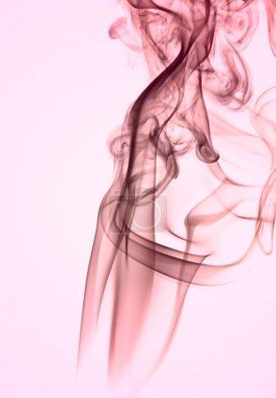Foto de Efecto de arte de flujo de aire de humo en color rosa imagen abstracta - Imagen libre de derechos