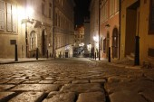 Night Praha old area closeup